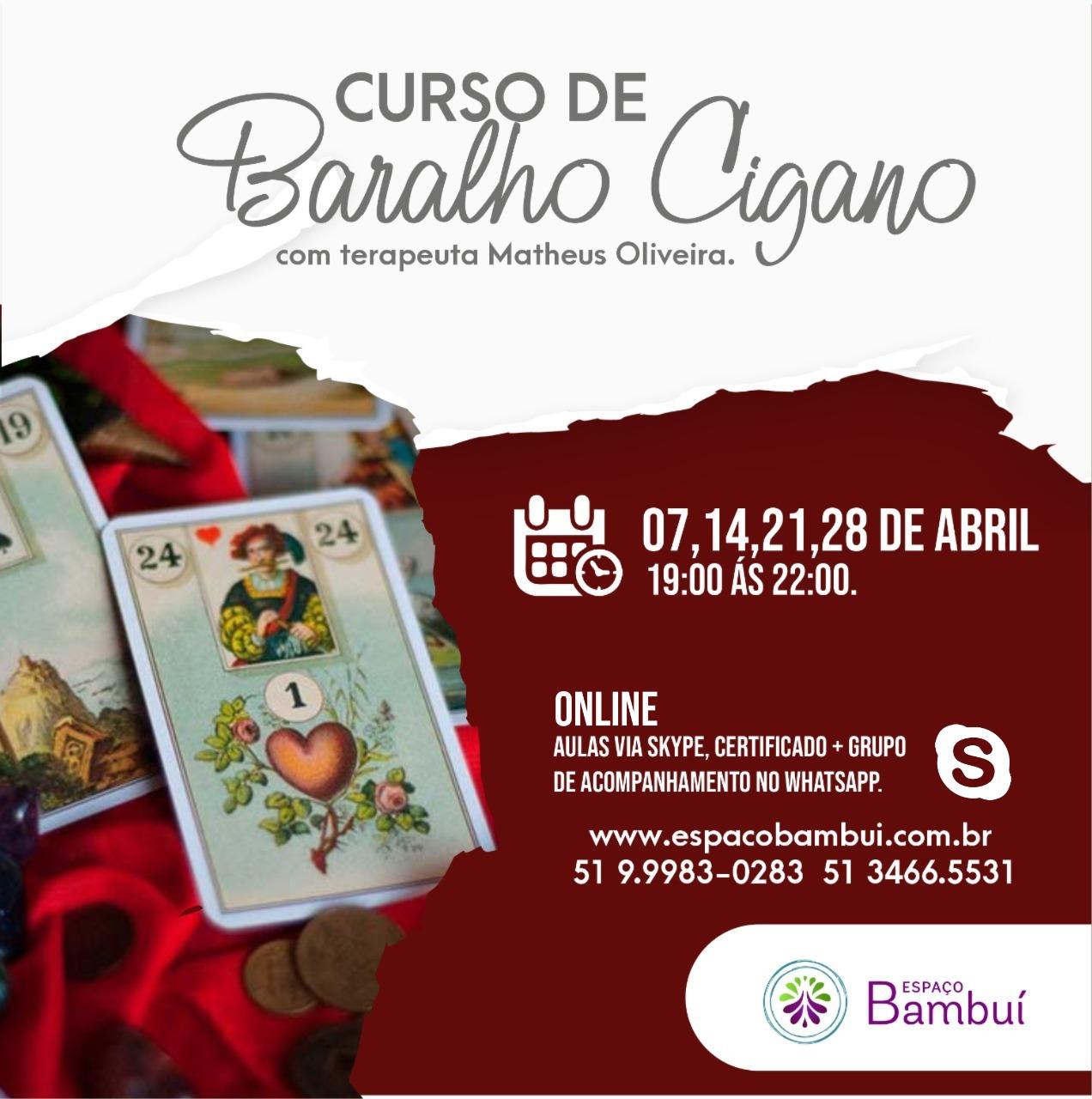 Curso de Baralho Cigano Online com terapeuta Matheus Oliveira