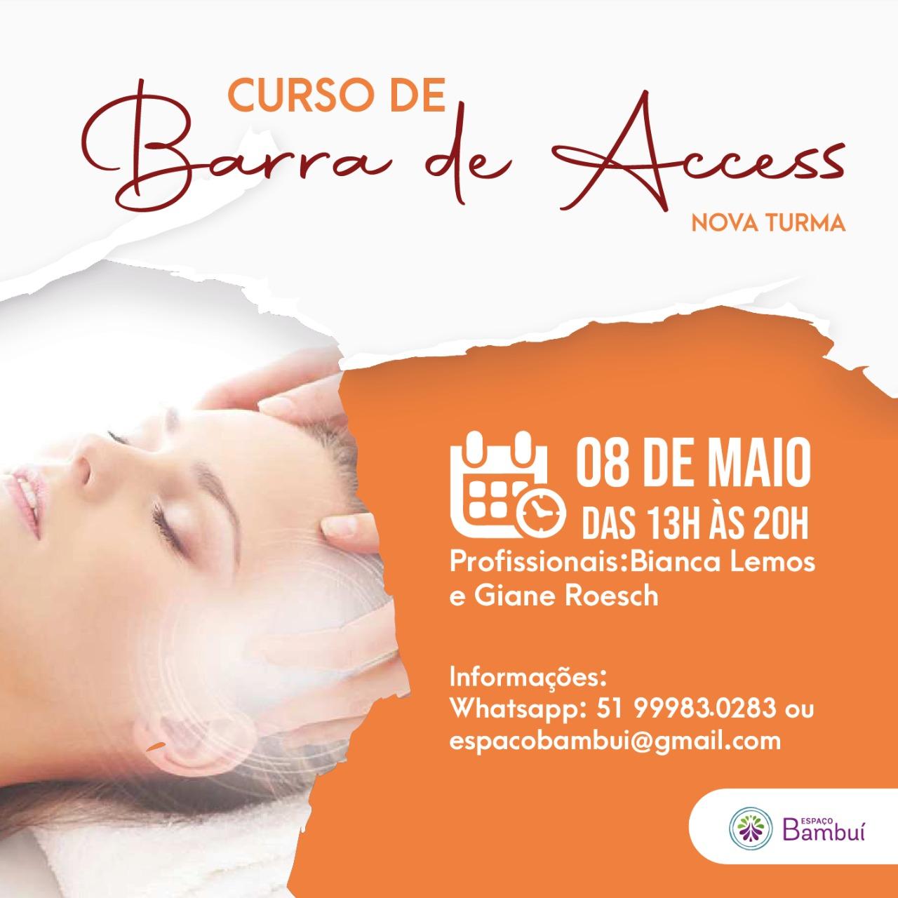 Curso de Barra de Access em Canoas - 08/05 - Espaço Bambuí